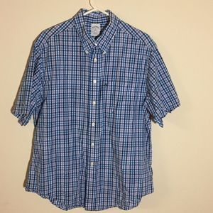 Brooks Brothers 346 Plaid Button Down Short Sleeve